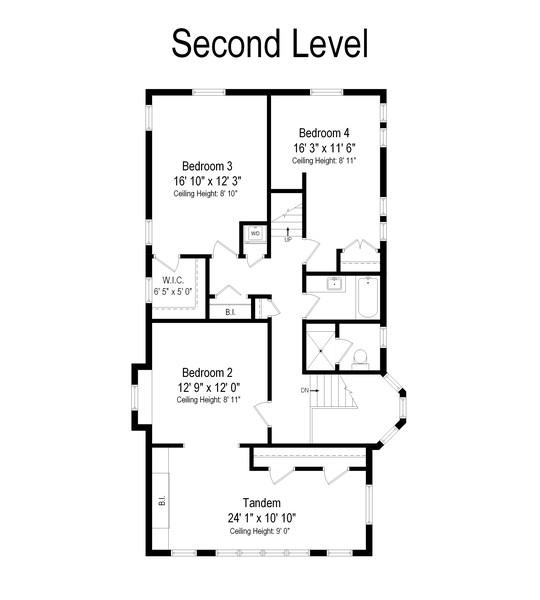 Real Estate Photography - 1023 Wenonah, Oak Park, IL, 60304 - Floor Plan