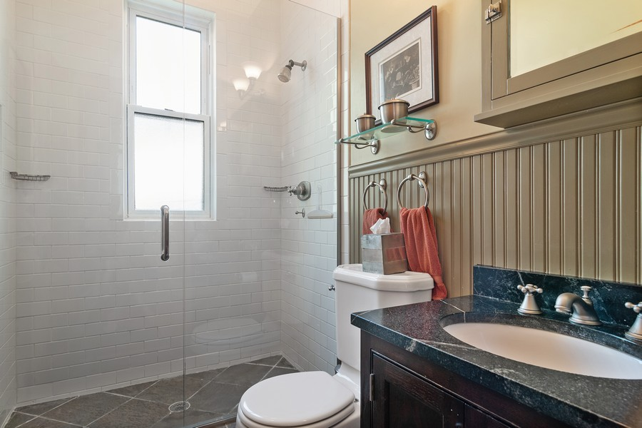 Real Estate Photography - 1023 Wenonah, Oak Park, IL, 60304 - 1st Floor Bathroom