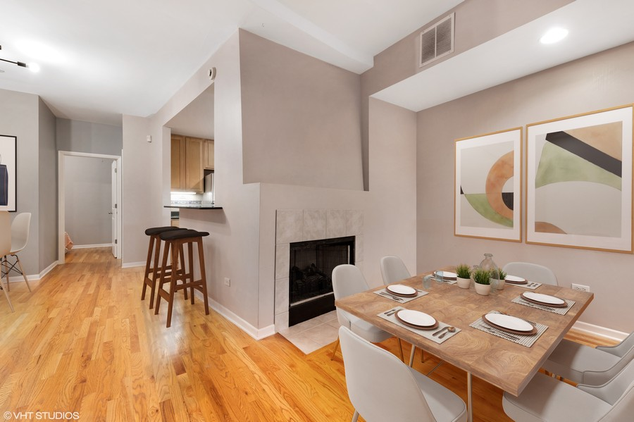 Real Estate Photography - 1920 S. Federal St., Unit C, Chicago, IL, 60616 - Dining Area