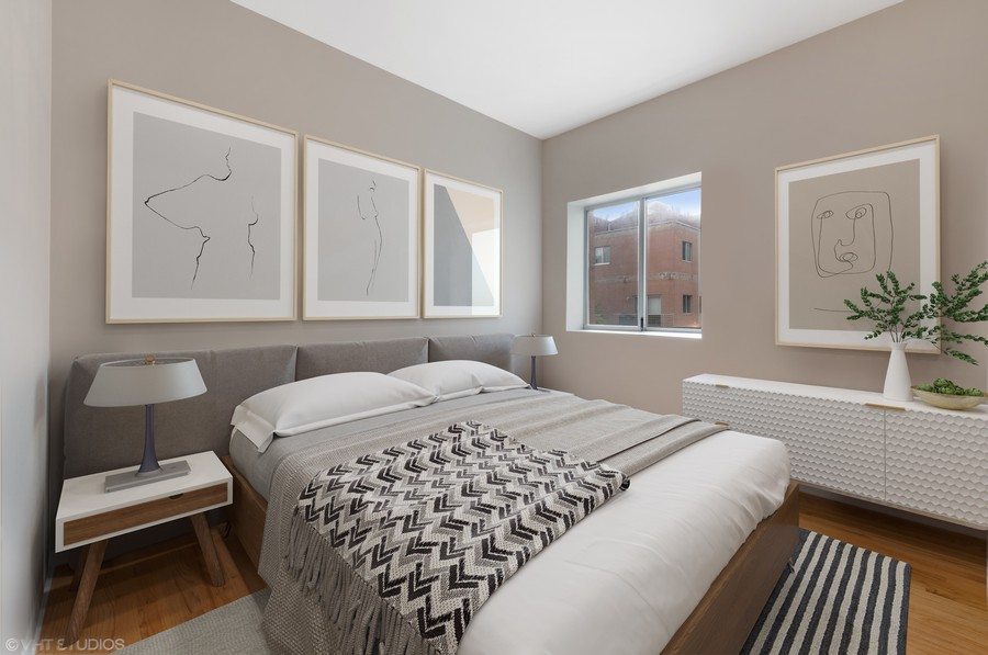 Real Estate Photography - 1920 S. Federal St., Unit C, Chicago, IL, 60616 - 2nd Bedroom