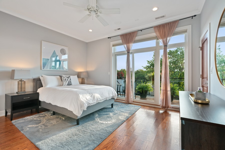 Real Estate Photography - 3536 North Ashland, Unit 4N, Chicago, IL, 60657 - Master Bedroom