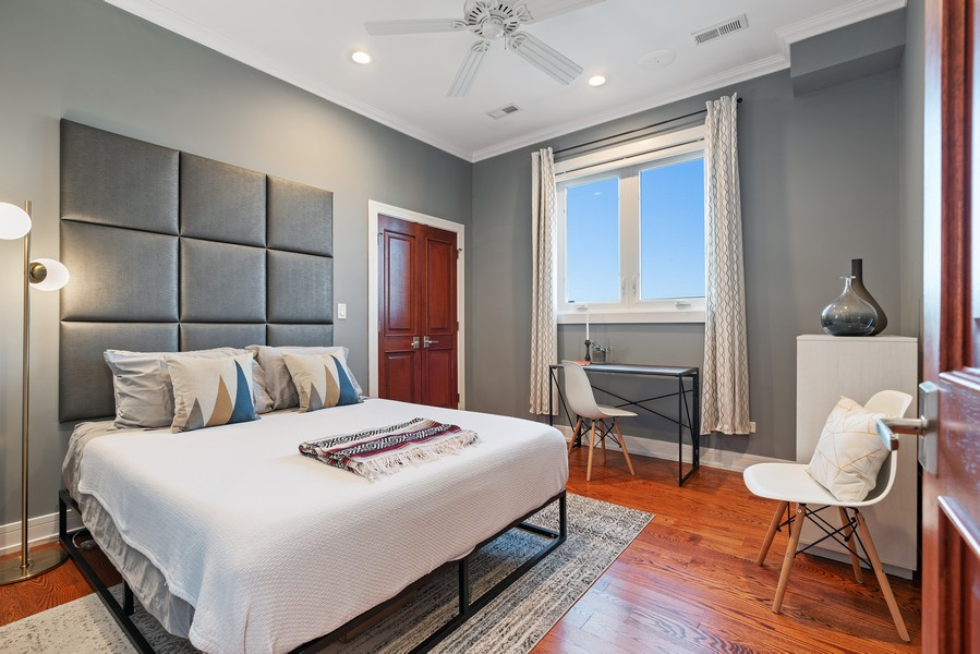 Real Estate Photography - 3536 North Ashland, Unit 4N, Chicago, IL, 60657 - 2nd Bedroom