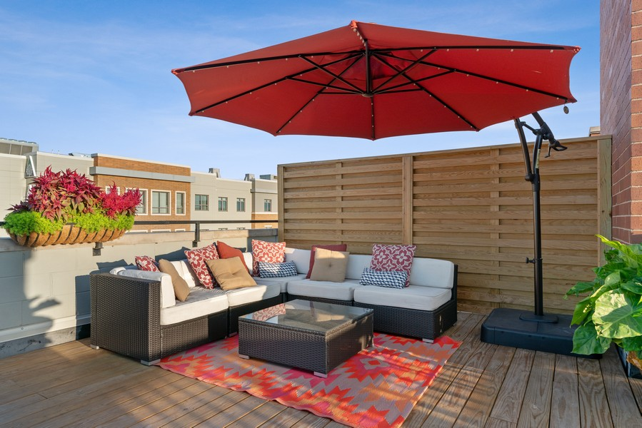 Real Estate Photography - 3536 North Ashland, Unit 4N, Chicago, IL, 60657 - Roof Deck