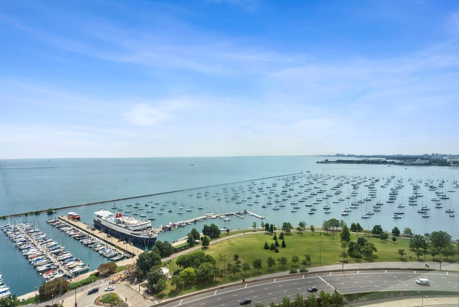 Real Estate Photography - 155 N. Harbor Dr. Unit 2010, Chicago, IL, 60601 - View from the unit
