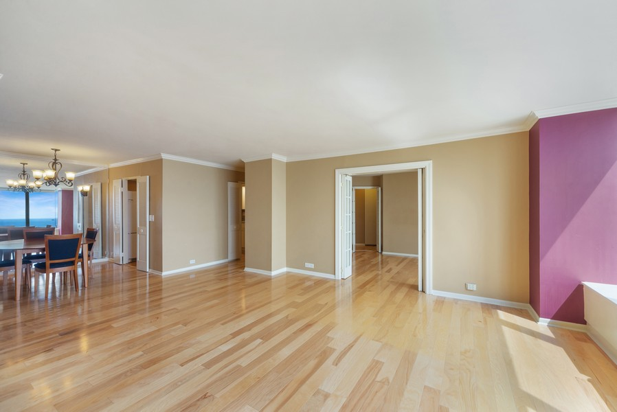 Real Estate Photography - 155 N. Harbor Dr. Unit 2010, Chicago, IL, 60601 - Living Room