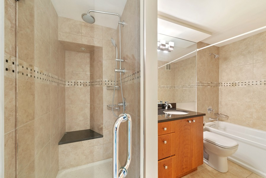Real Estate Photography - 155 N. Harbor Dr. Unit 2010, Chicago, IL, 60601 - Master Bathroom