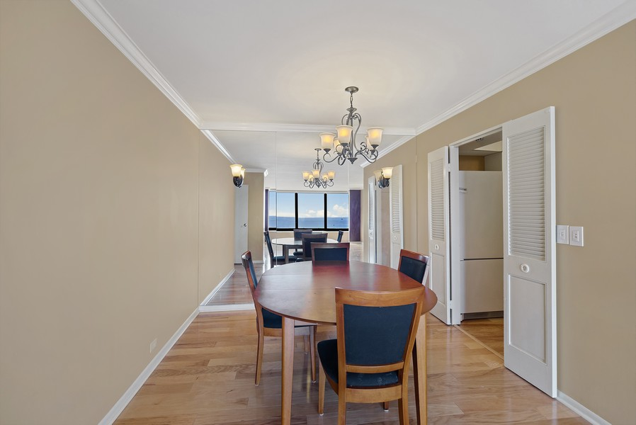Real Estate Photography - 155 N. Harbor Dr. Unit 2010, Chicago, IL, 60601 - Dining Room