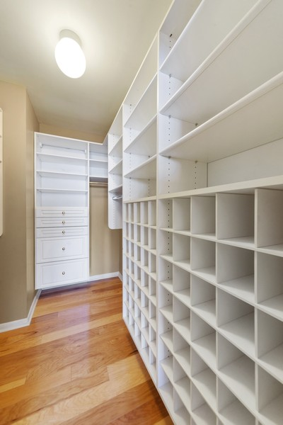 Real Estate Photography - 155 N. Harbor Dr. Unit 2010, Chicago, IL, 60601 - Master Bedroom Closet