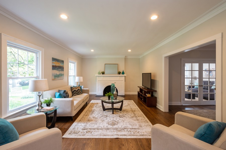 Real Estate Photography - 2230 Forest View Rd, Evanston, IL, 60201 - Living Room