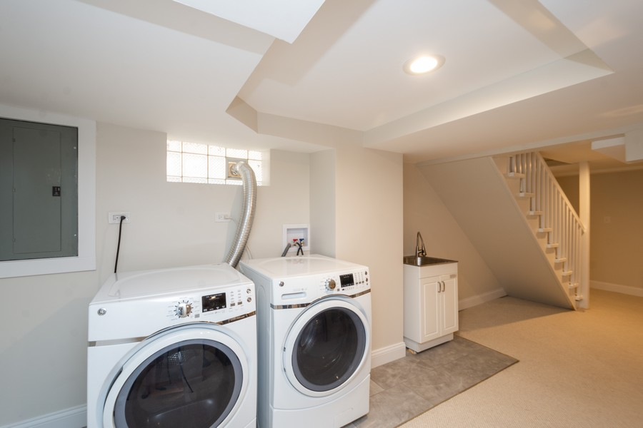Real Estate Photography - 2230 Forest View Rd, Evanston, IL, 60201 - Laundry Room