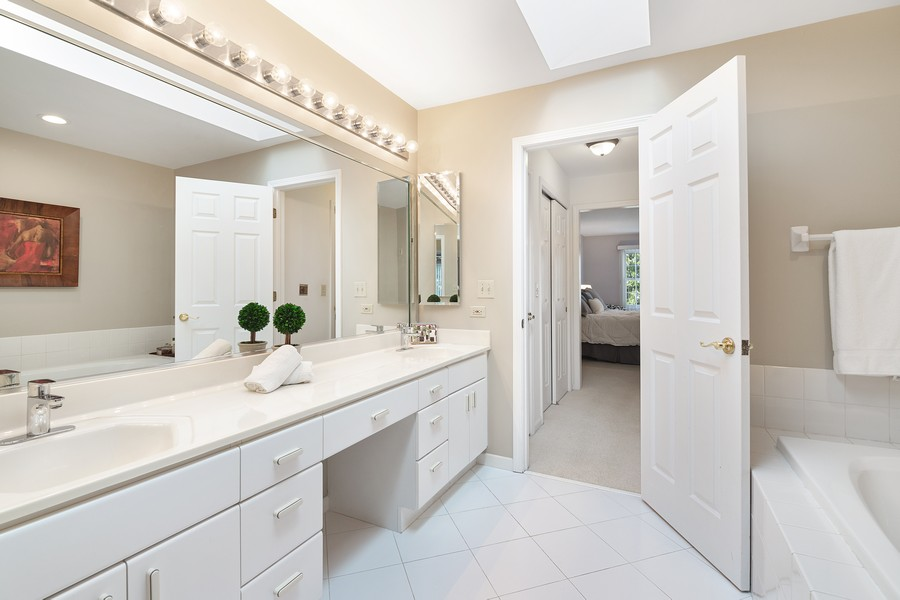 Real Estate Photography - 2042 Trent Ct, Glenview, IL, 60026 - Master Bathroom