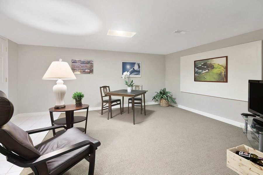 Real Estate Photography - 2042 Trent Ct, Glenview, IL, 60026 - Lower Level Recreation/Media Room
