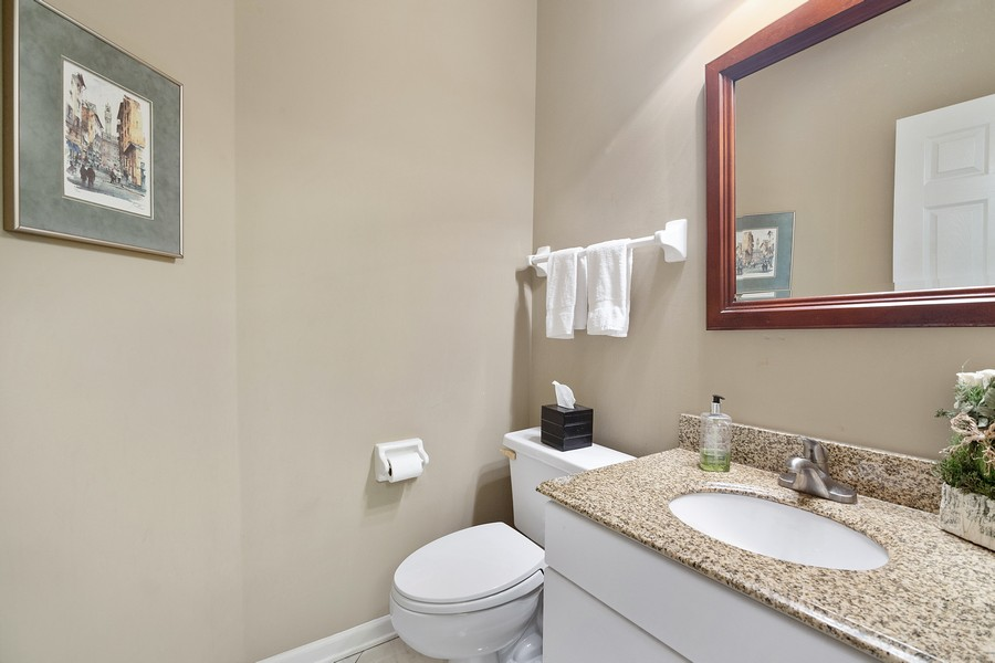 Real Estate Photography - 2042 Trent Ct, Glenview, IL, 60026 - 1st Floor Half Bath