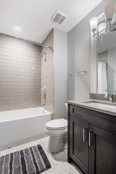 Real Estate Photography - 2019 W School St, Chicago, IL, 60618 - 4th Bathroom