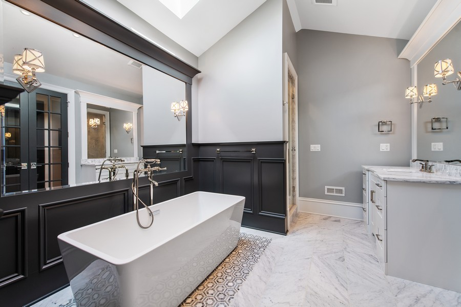 Real Estate Photography - 2019 W School St, Chicago, IL, 60618 - Master Bathroom