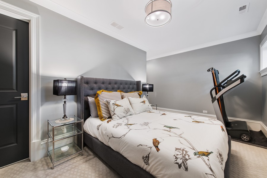 Real Estate Photography - 2019 W School St, Chicago, IL, 60618 - Guest Bedroom