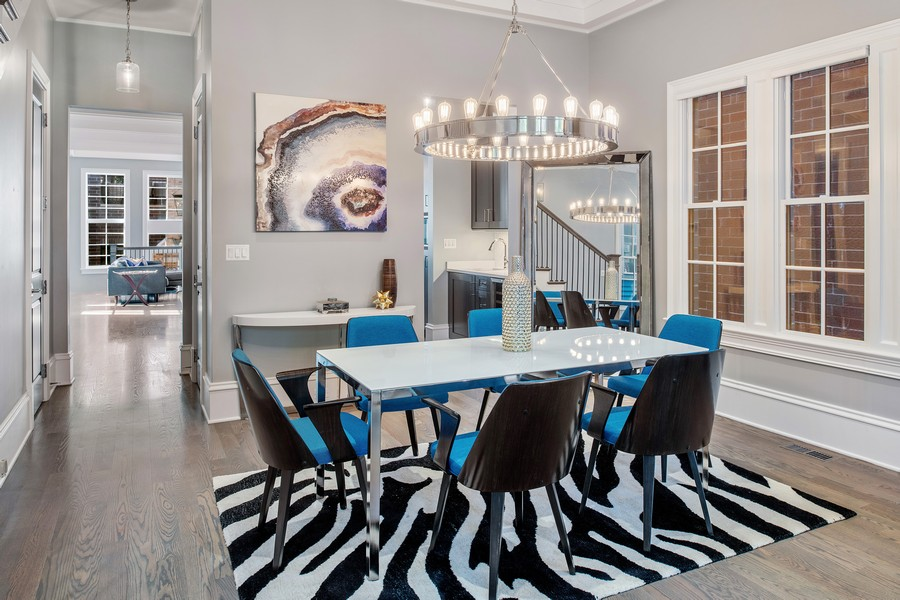 Real Estate Photography - 2019 W School St, Chicago, IL, 60618 - Dining Room