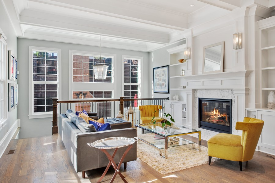 Real Estate Photography - 2019 W School St, Chicago, IL, 60618 - Family Room