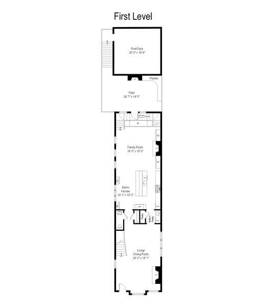 Real Estate Photography - 2019 W School St, Chicago, IL, 60618 - Floor Plan