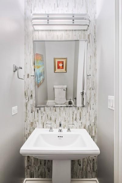 Real Estate Photography - 2019 W School St, Chicago, IL, 60618 - Half Bath