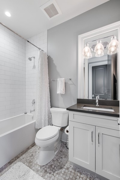 Real Estate Photography - 2019 W School St, Chicago, IL, 60618 - 2nd Bathroom