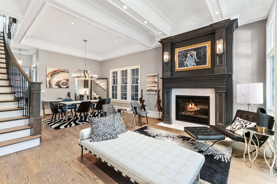 Real Estate Photography - 2019 W School St, Chicago, IL, 60618 - Living Room/Dining Room