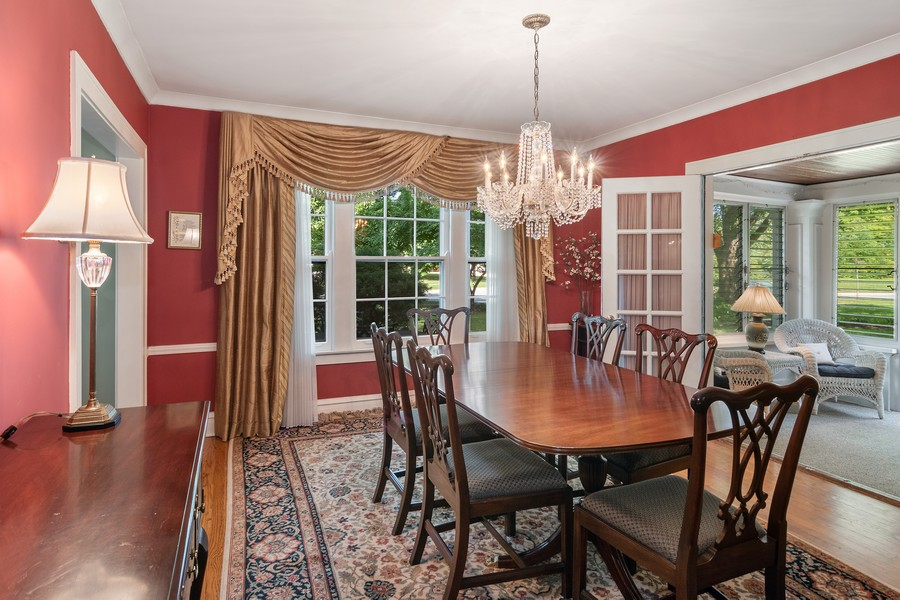 Real Estate Photography - 299 Longcommon Rd, Riverside, IL, 60546 - Dining Room