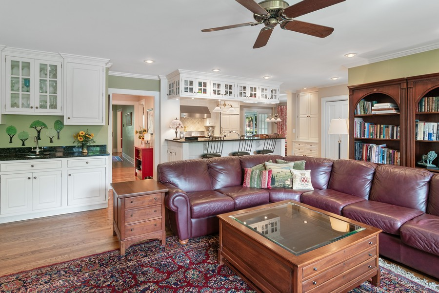 Real Estate Photography - 299 Longcommon Rd, Riverside, IL, 60546 - Family Room