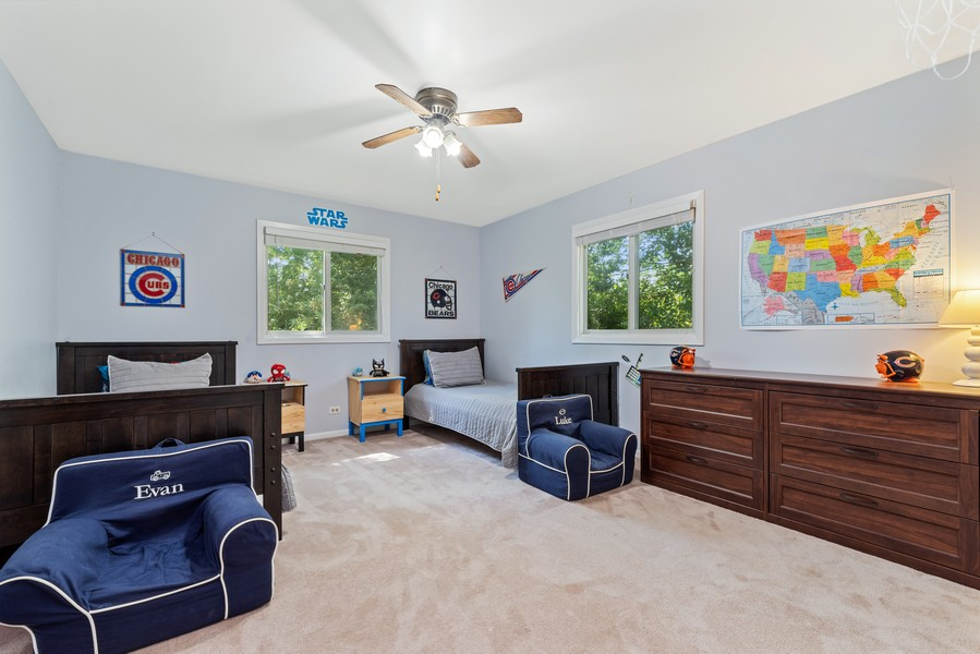 Real Estate Photography - 205 Greenfield, Glenview, IL, 60025 - 3rd Bedroom