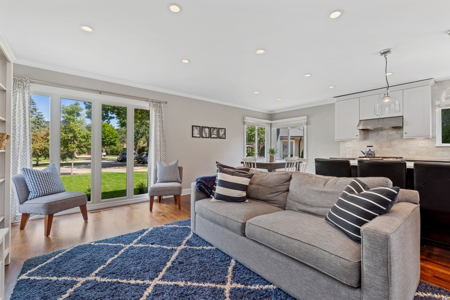 Real Estate Photography - 205 Greenfield, Glenview, IL, 60025 - Living Room