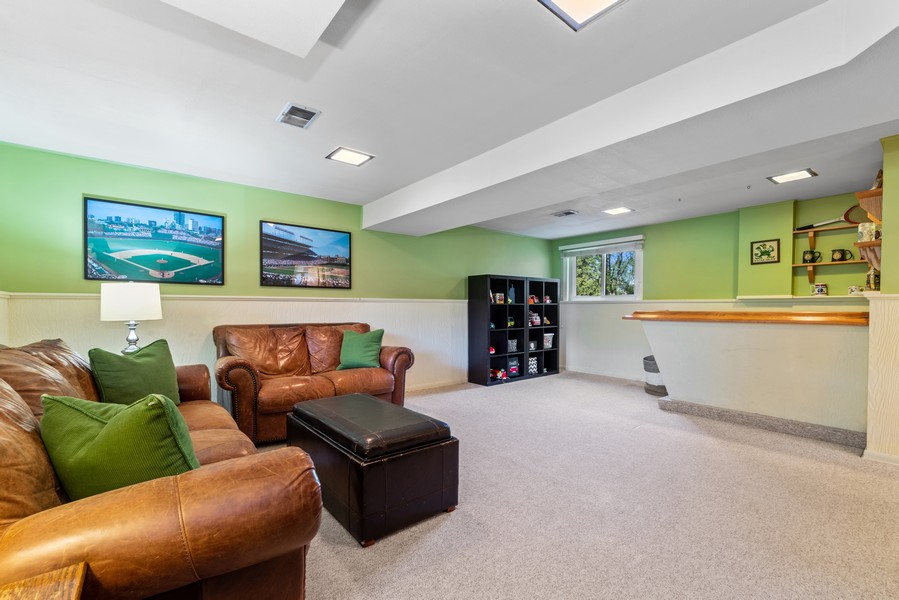 Real Estate Photography - 205 Greenfield, Glenview, IL, 60025 - Family Room