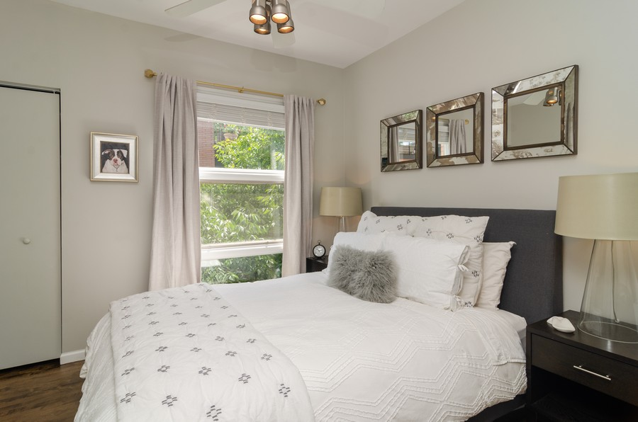 Real Estate Photography - 1767 N Hoyne, L, Chicago, IL, 60647 - 2nd Bedroom
