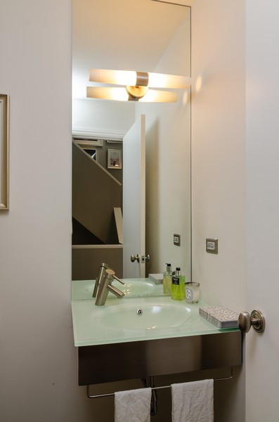 Real Estate Photography - 1767 N Hoyne, L, Chicago, IL, 60647 - Powder Room