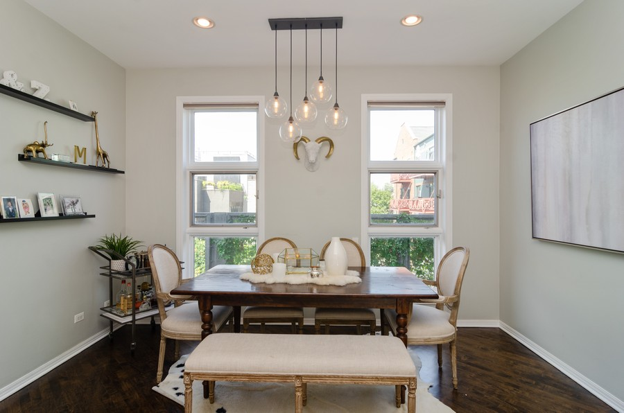 Real Estate Photography - 1767 N Hoyne, L, Chicago, IL, 60647 - Dining Room