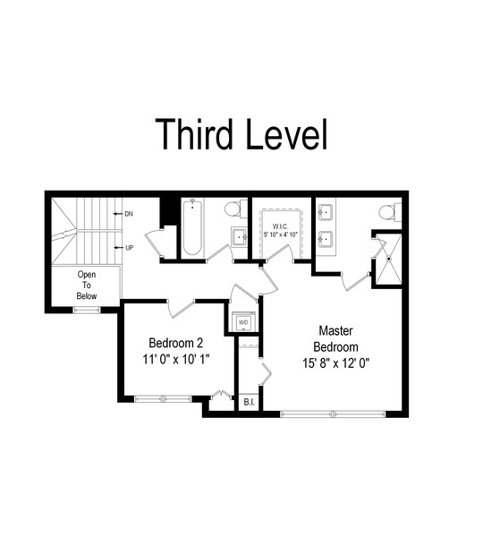 Real Estate Photography - 1767 N Hoyne, L, Chicago, IL, 60647 - Floor Plan