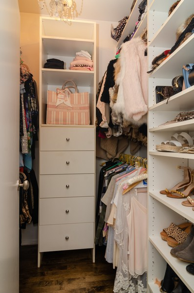 Real Estate Photography - 1767 N Hoyne, L, Chicago, IL, 60647 - Master Bedroom Closet