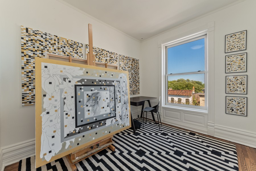 Real Estate Photography - 1814 N Lincoln Park West, Unit 4, Chicago, IL, 60614 - 3rd Bedroom