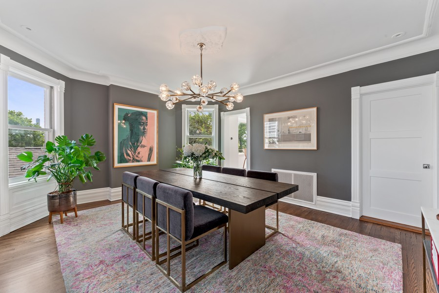 Real Estate Photography - 1814 N Lincoln Park West, Unit 4, Chicago, IL, 60614 - Dining Room