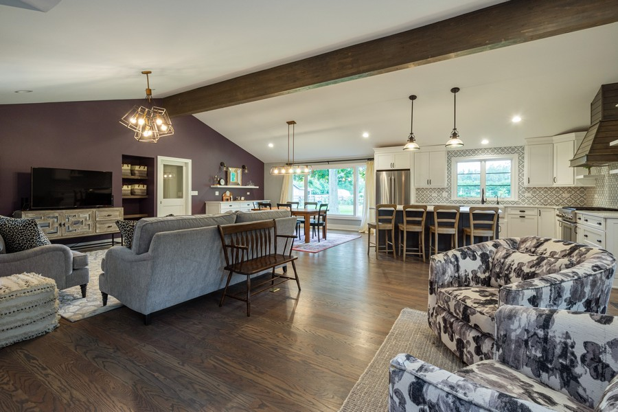 Real Estate Photography - 668 Old Barrington Rd, Barrington, IL, 60010 - Living Room / Dining Room