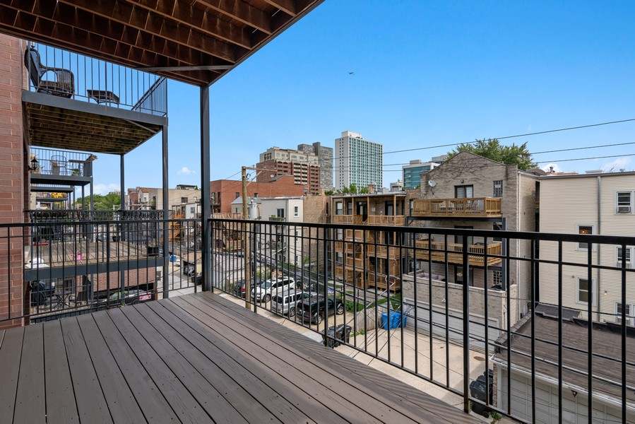 Real Estate Photography - 3717 N Wilton Ave, 4, Chicago, IL, 60613 - Deck