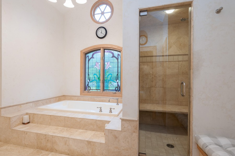 Real Estate Photography - 4658 Red Wing Lane, Long Grove, IL, 60047 - Master Bathroom