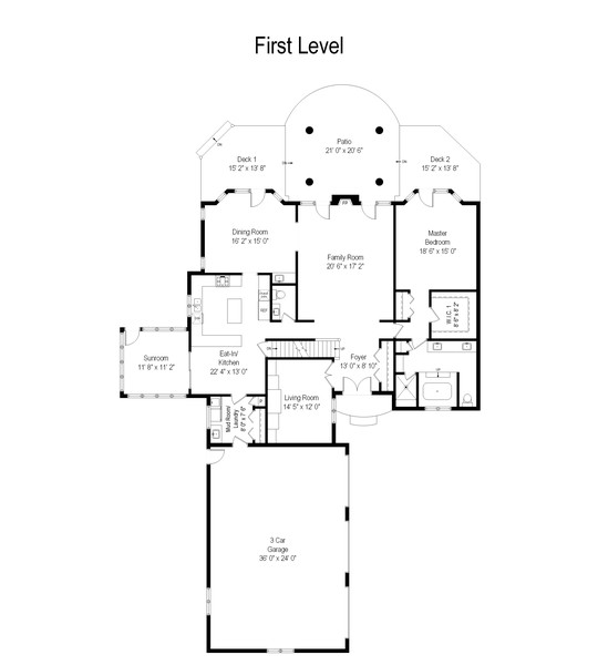 Real Estate Photography - 4658 Red Wing Lane, Long Grove, IL, 60047 - Floor Plan
