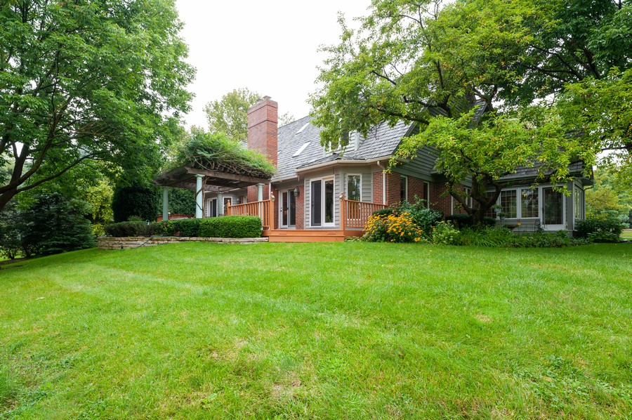 Real Estate Photography - 4658 Red Wing Lane, Long Grove, IL, 60047 - Rear View
