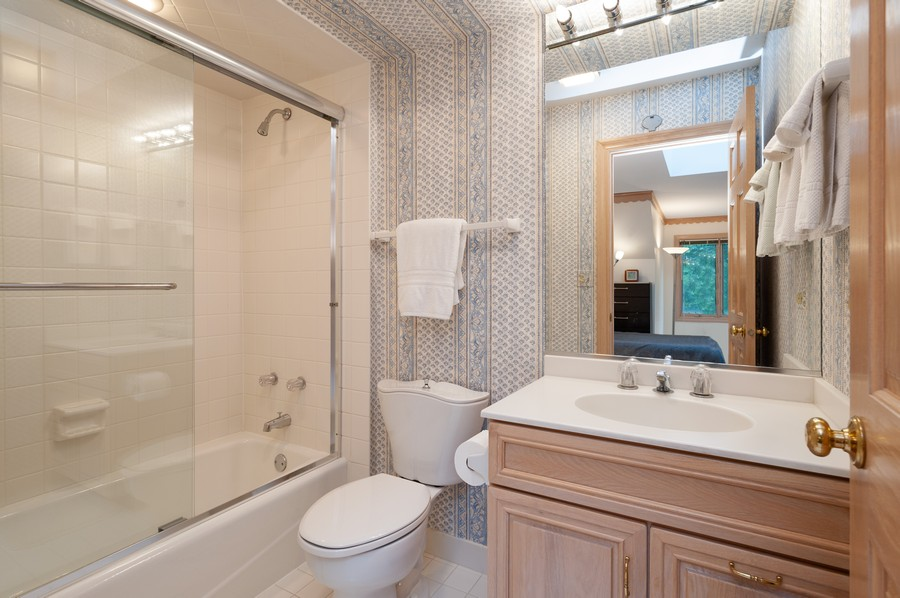 Real Estate Photography - 4658 Red Wing Lane, Long Grove, IL, 60047 - 2nd Bathroom