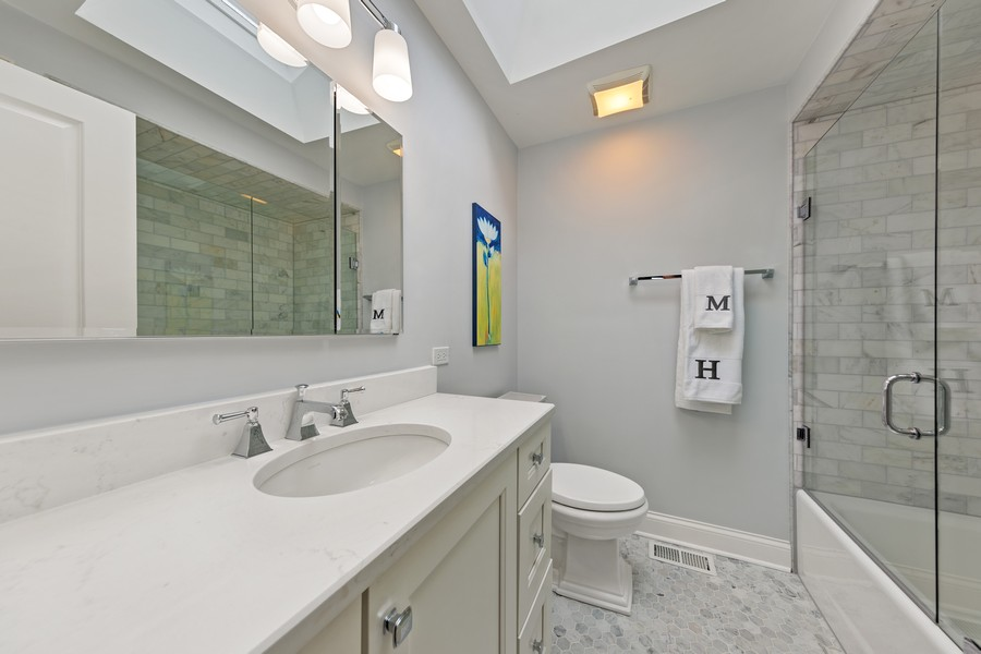 Real Estate Photography - 605 Jefferson Street, Hinsdale, IL, 60521 - 2nd Bathroom