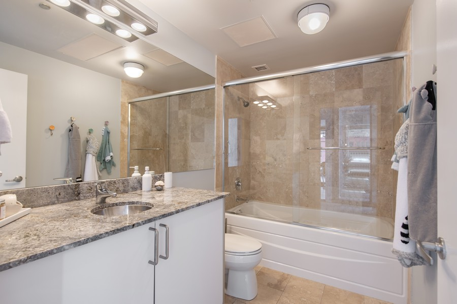 Real Estate Photography - 201 W Grand, #602, Chicago, IL, 60654 - 3rd Bathroom