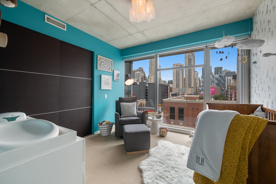 Real Estate Photography - 201 W Grand, #602, Chicago, IL, 60654 - 2nd Bedroom