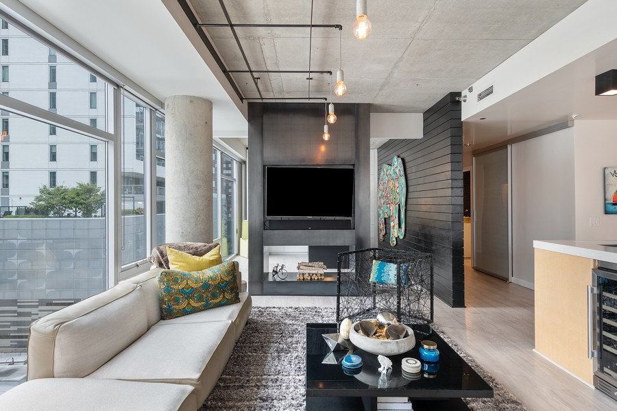 Real Estate Photography - 201 W Grand, #602, Chicago, IL, 60654 - Living Room