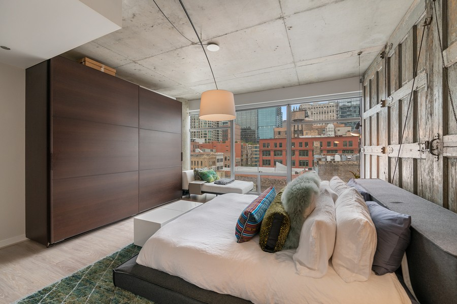 Real Estate Photography - 201 W Grand, #602, Chicago, IL, 60654 - Master Bedroom