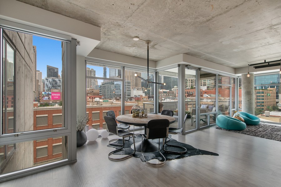 Real Estate Photography - 201 W Grand, #602, Chicago, IL, 60654 - Dining Room